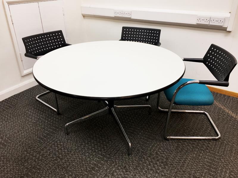 1300 amp 1100mm diameter Vitra circular tables