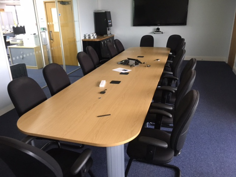4800x1200mm oak meeting table