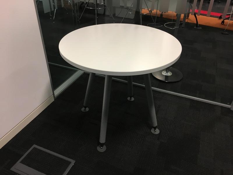 Herman Miller Sense 800mm diameter white table