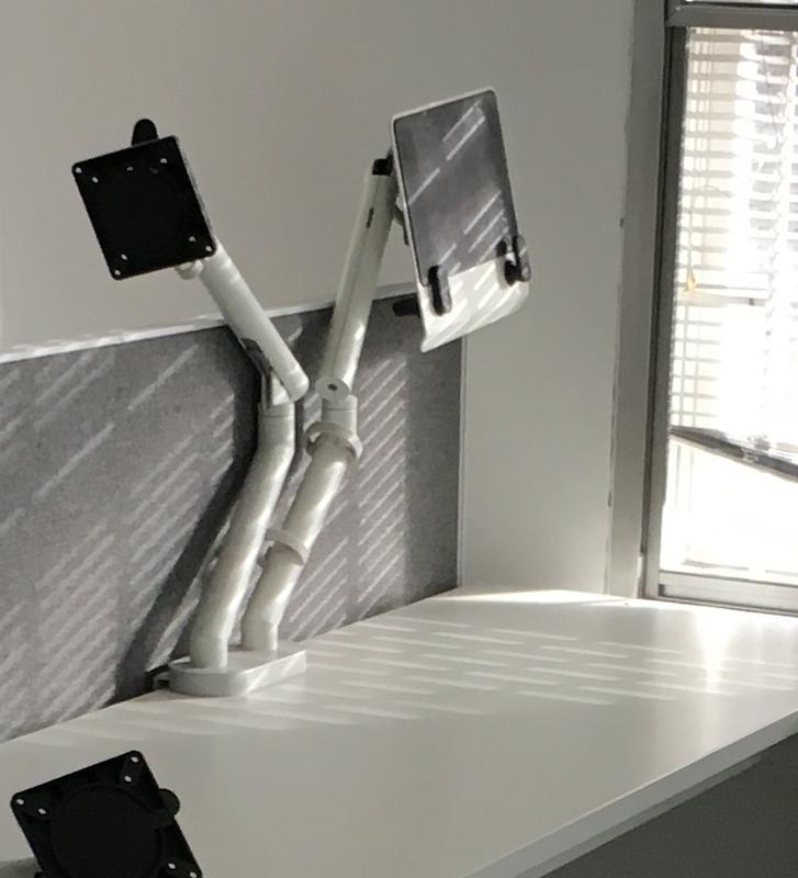 Dual monitor and ipad arm
