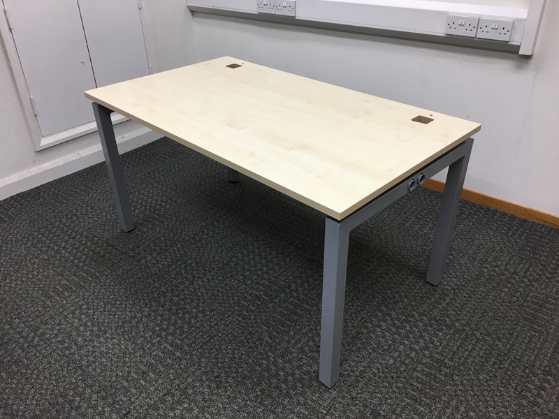 1400 amp 1600x800mm maple Gresham desks