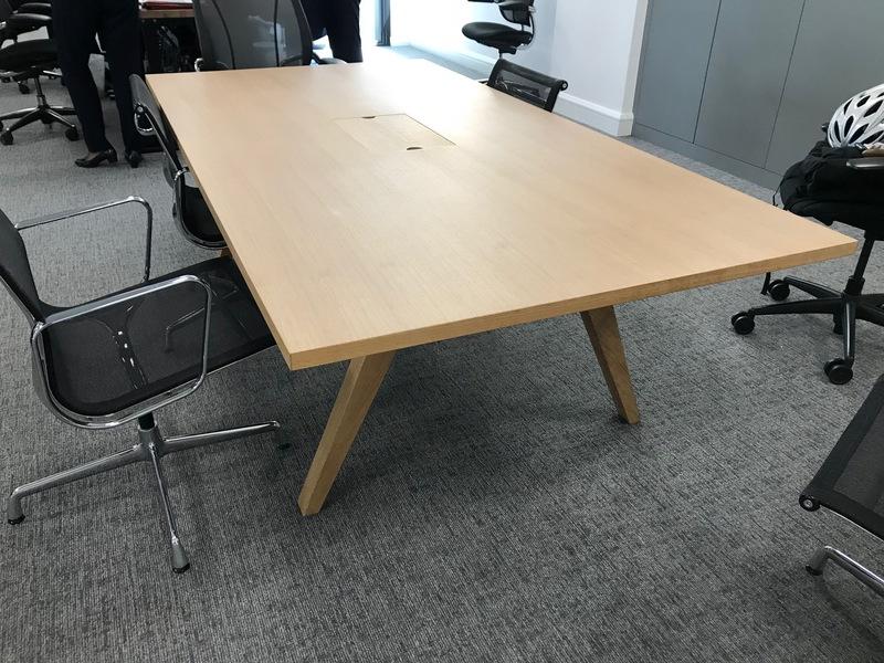 2300x1200mm solid oak boardroom table