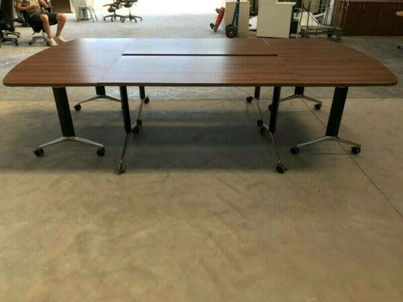 3000x1600 modular walnut tilt top tables