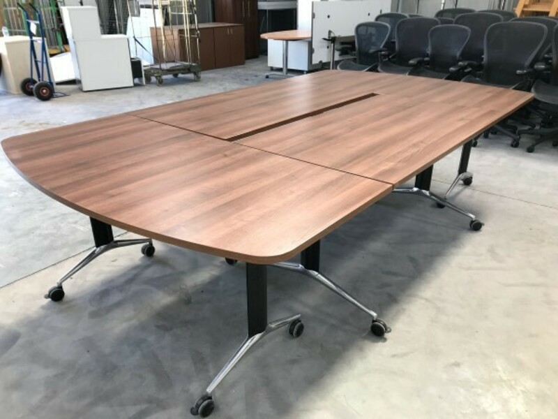 Walnut tilt top tables