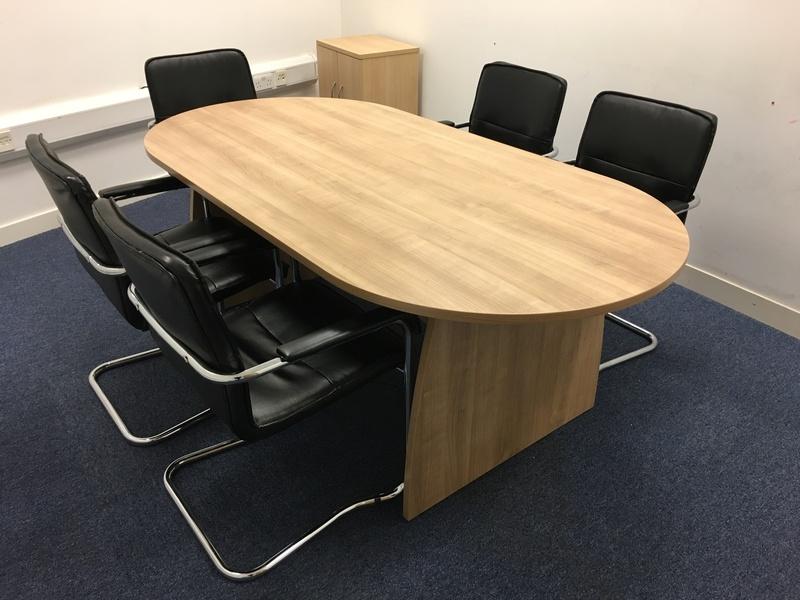 2000x1000mm oak D End table