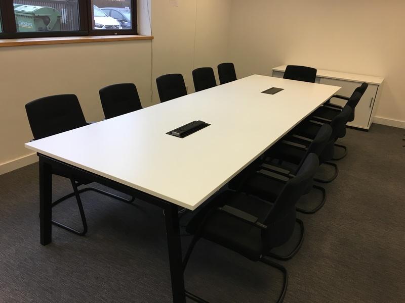 3600x1200mm Elite white boardroom table