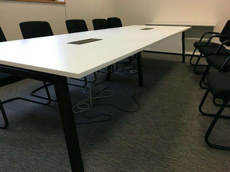 3600x1200mm Elite white boardroom table