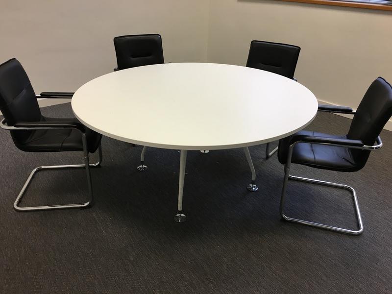 1600mm diameter white table
