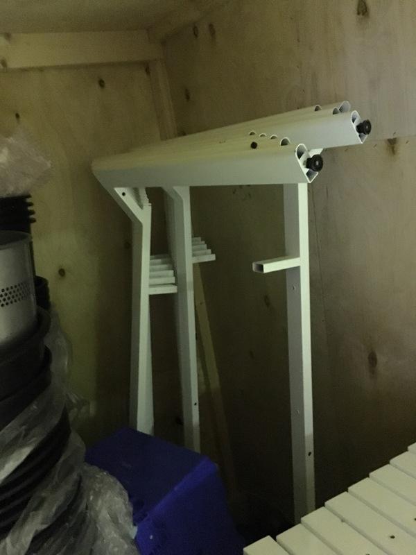 Sven Xframe white 1200x800mm bench desk