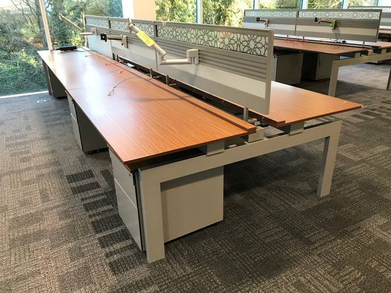 Techo walnut 1600x800mm bench desks