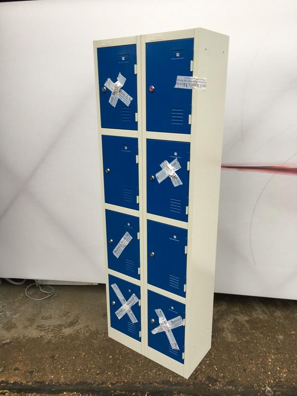 Atlas grey & blue 4 door lockers