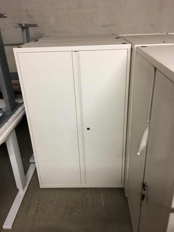KI white 1300mm high cupboards