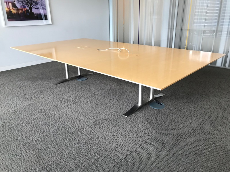3300 x 1800mm Luke Hughes maple veneer table