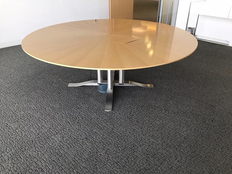 2000mm diameter Luke Hughes maple veneer table