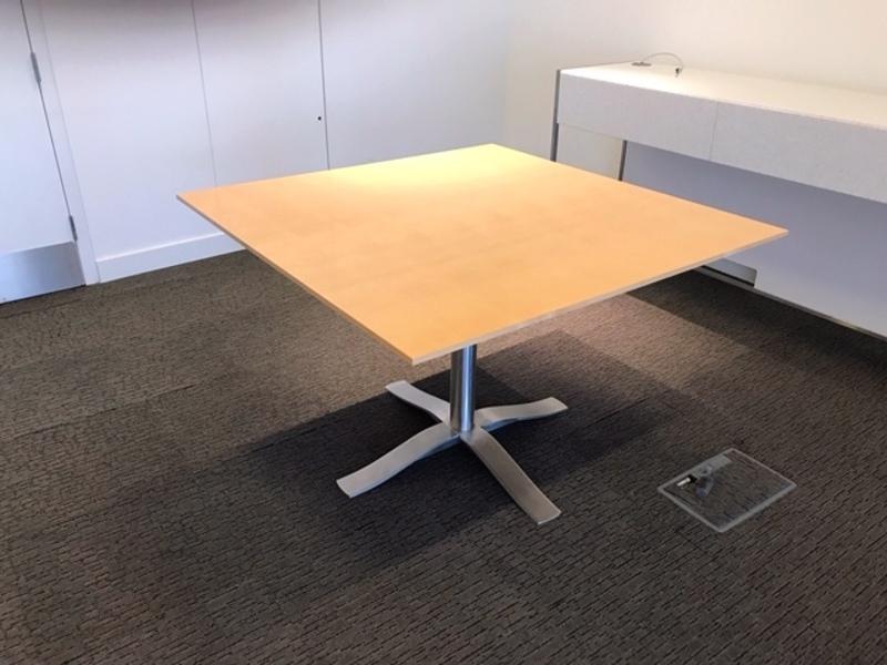 1100x1100mm Luke Hughes maple veneer table
