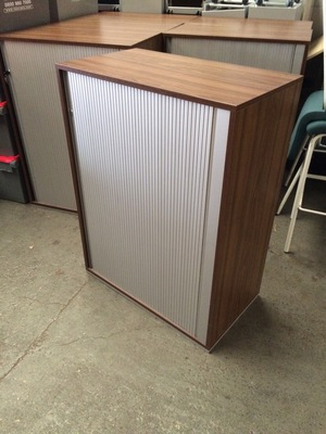 1060mm high walnut Techo tambour cupboards CE