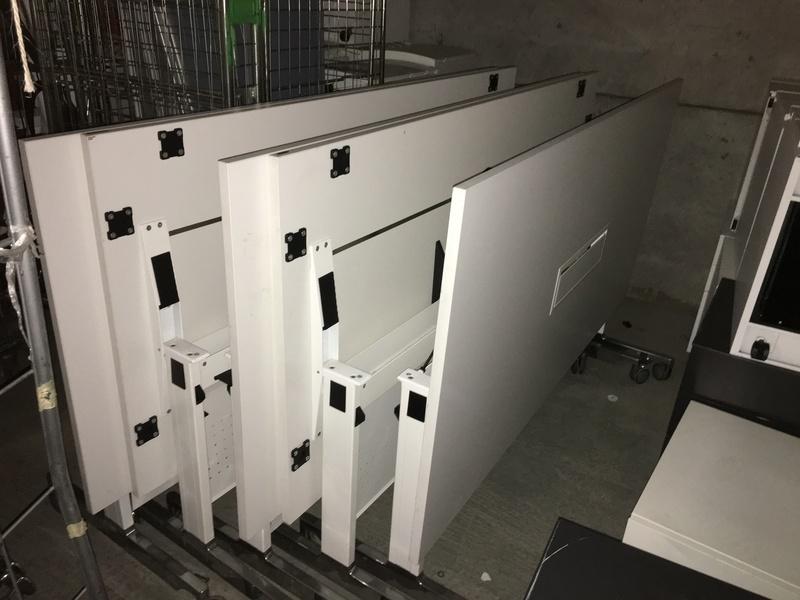 1800x900mm white Weisner Hager tilt top tables