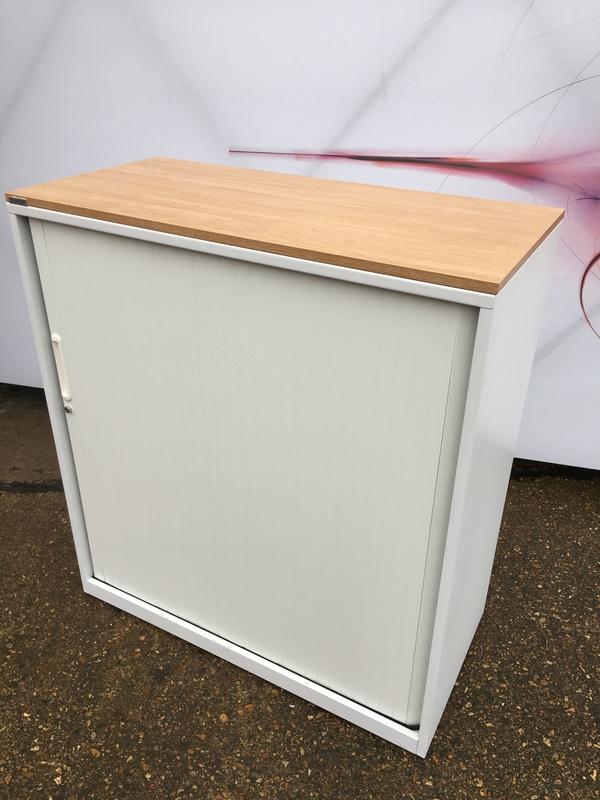 1100mm high Triumph whiteoak tambour cupboard
