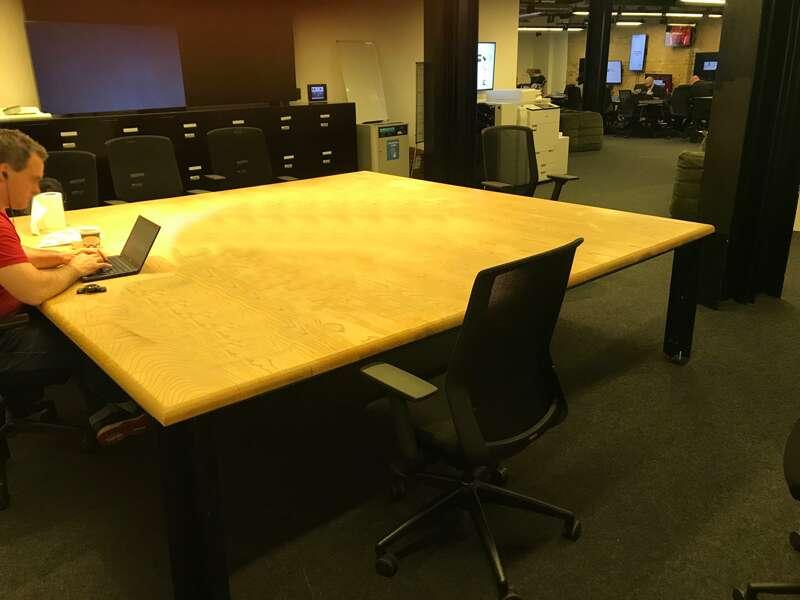 Solid ash 2790x2800mm boardroom table