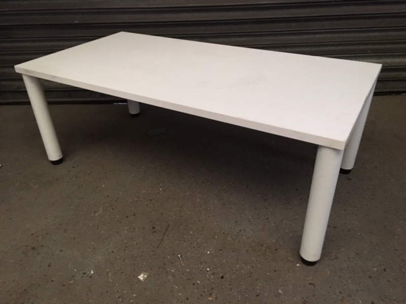 1200x600mm white rectangular coffee table