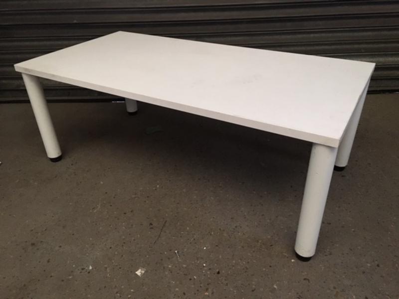 1200x600mm white rectangular coffee table
