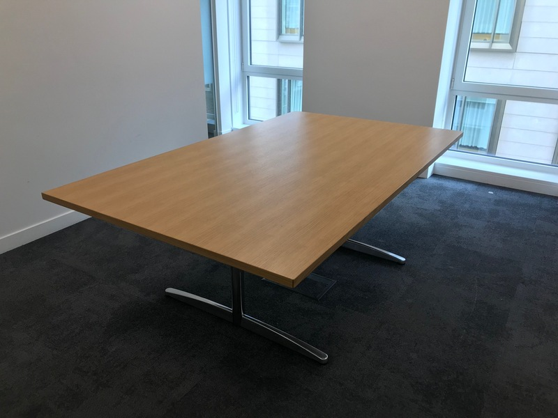 2000x1200mm oak veneer table