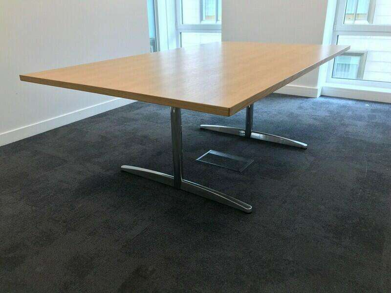 2000x1200mm oak veneer table