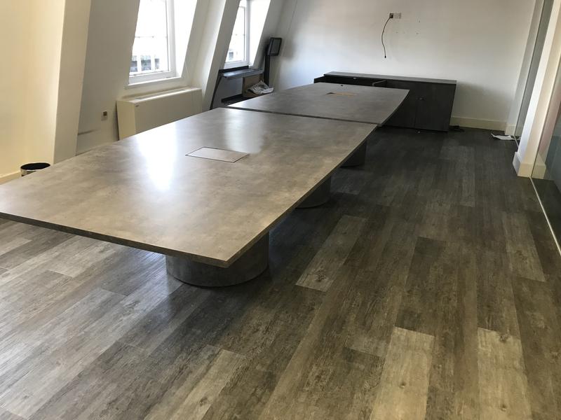 5000x14001200mm granite effect boardroom table