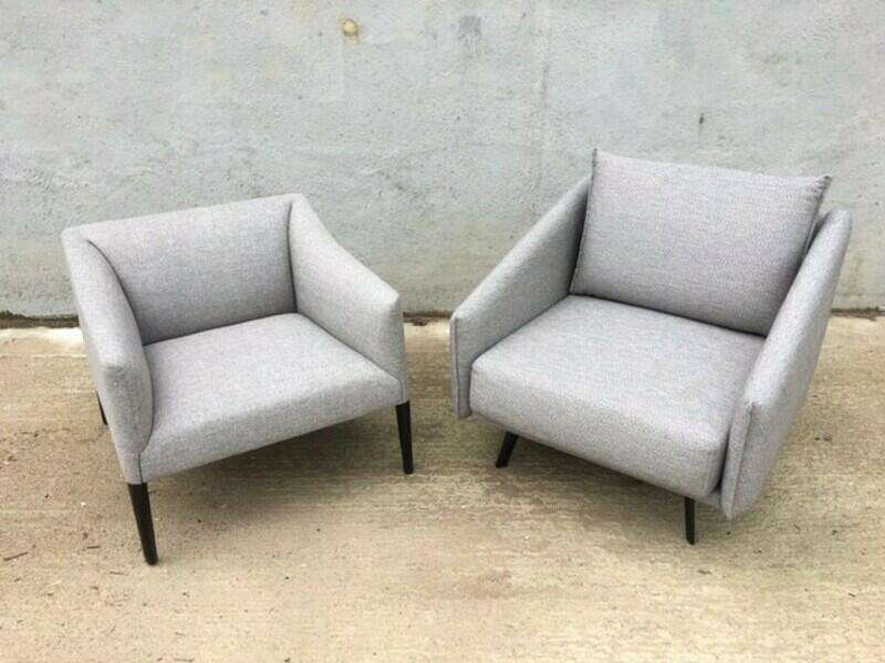 Andreu World Couvé grey armchairs