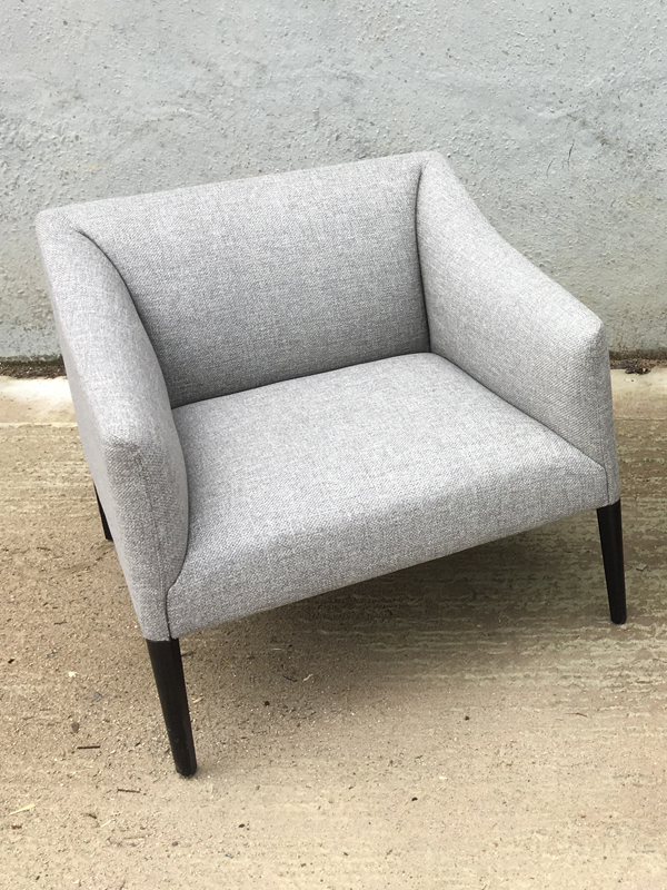 Andreu World Couveacute grey armchairs