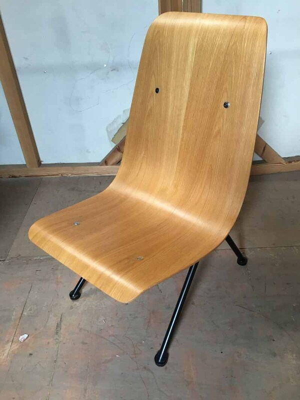 Jean Prouve for Vitra style Antony plywood chairs