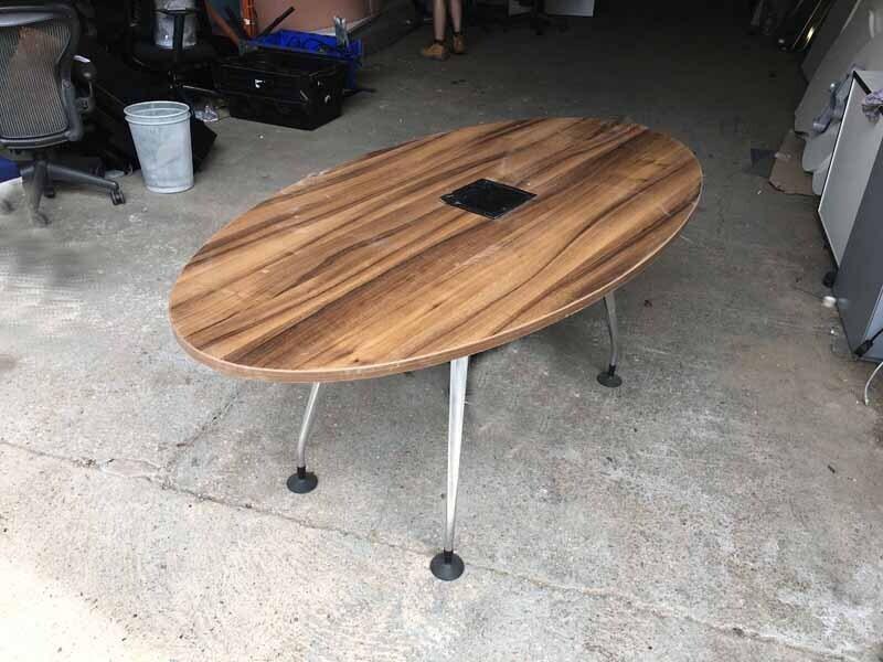 1800x900mm walnut Orangebox Pars oval table