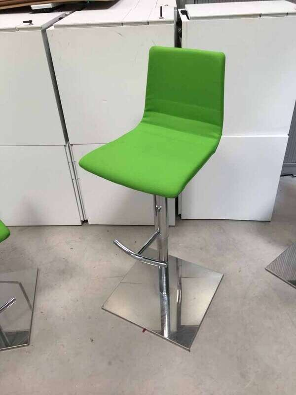 Green fabric stools