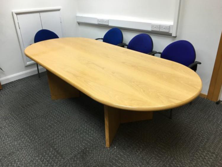 Boardroom oak table