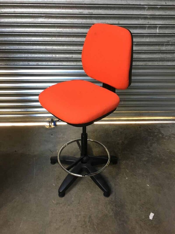 Red 2 lever draughtsman's chair