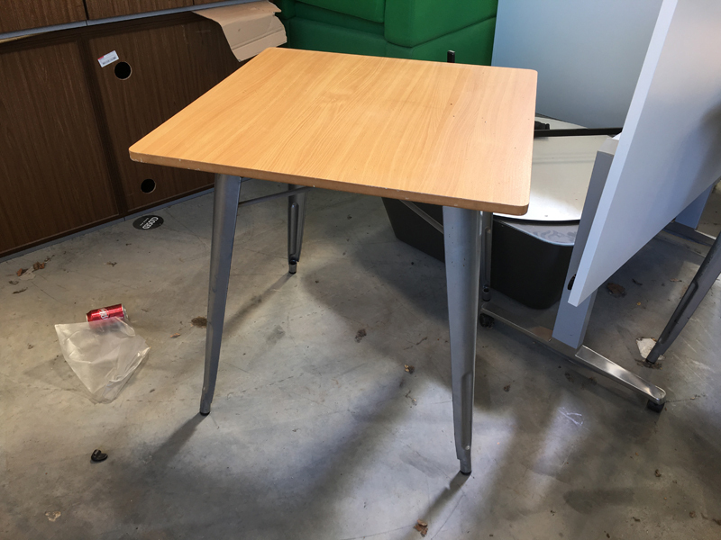 800mm square beech tables
