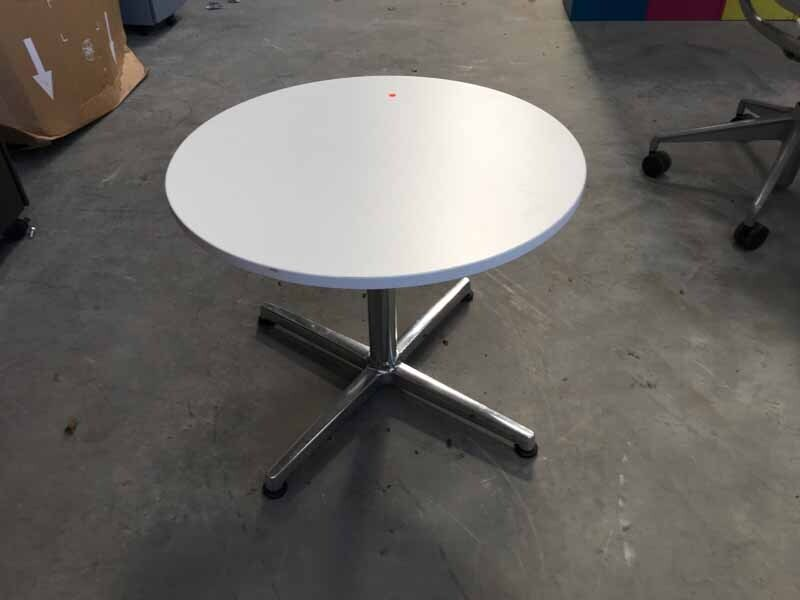 800mm diameter white coffee table