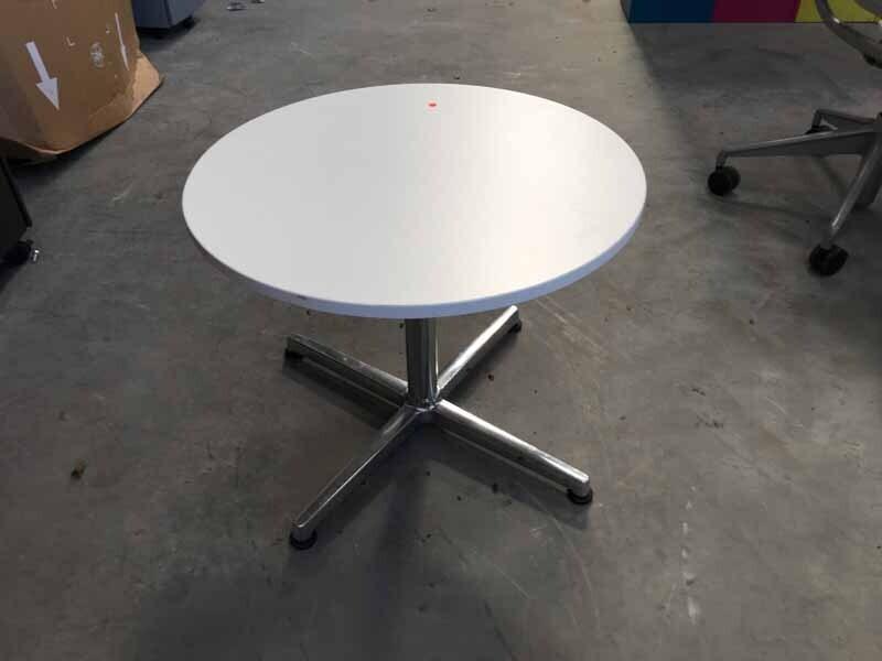 800mm diameter white coffee table