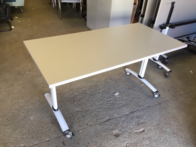 1400x700mm silver Gresham Telford tilt top tables