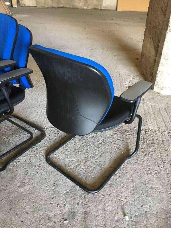 Black & blue Orangebox Joy stacking meeting chairs