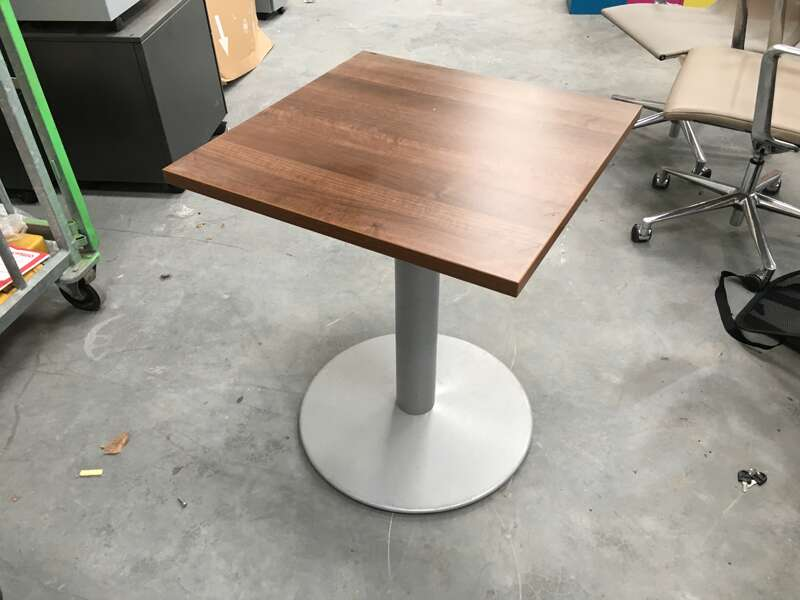 600mm square walnut table