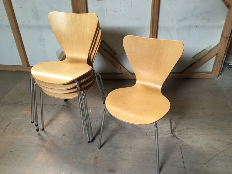 Senator plywood stacking shell chairs