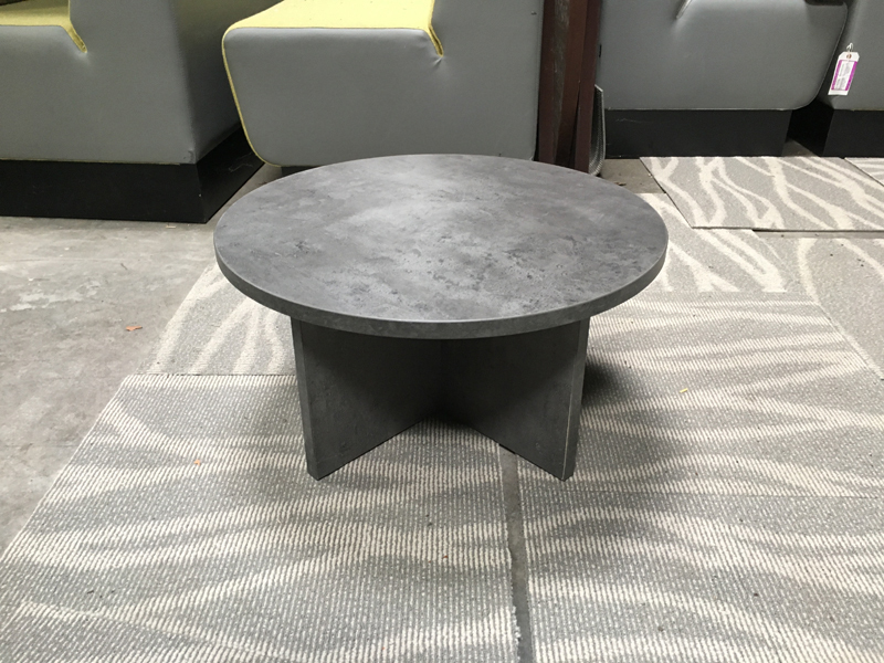 600mm diameter granite effect coffee table