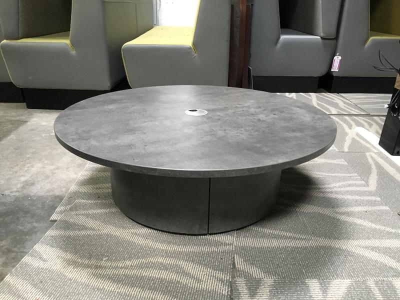 1000mm diameter granite effect coffee table