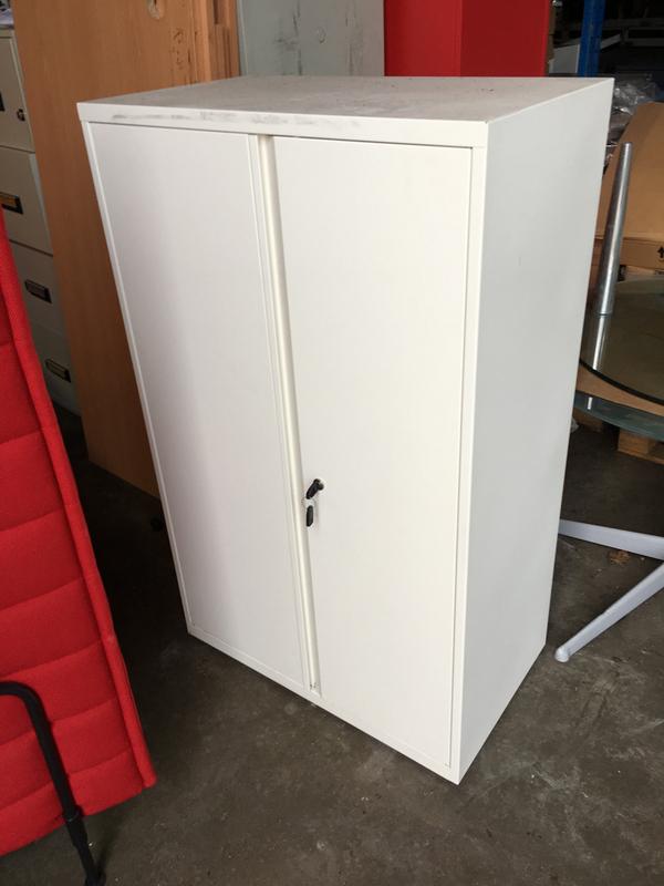 1700mm high white double door cupboard