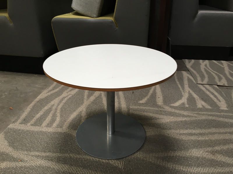 525mm diameter white coffee table