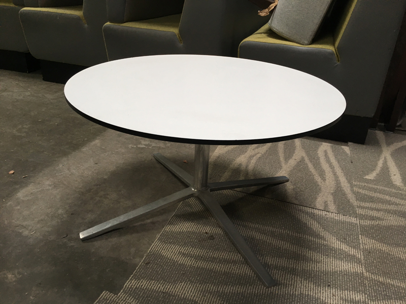 White 800mm diameter coffee table