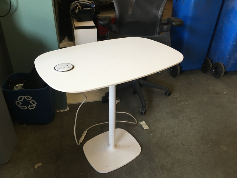 White breakout tables