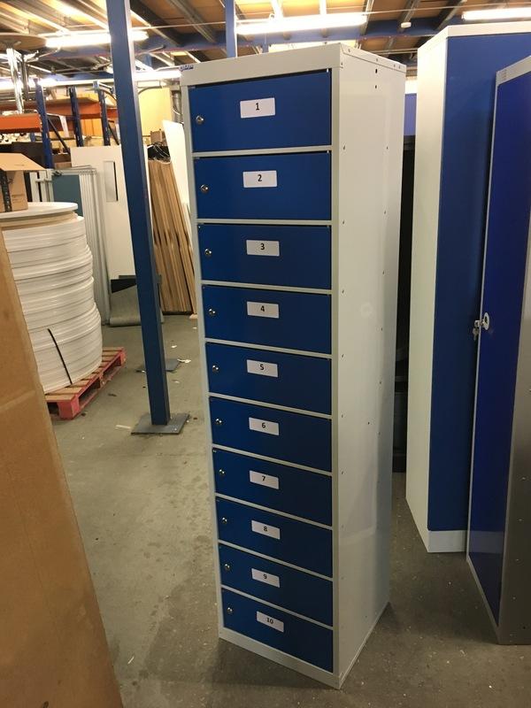 1800mm high QMP 10 door laptop locker