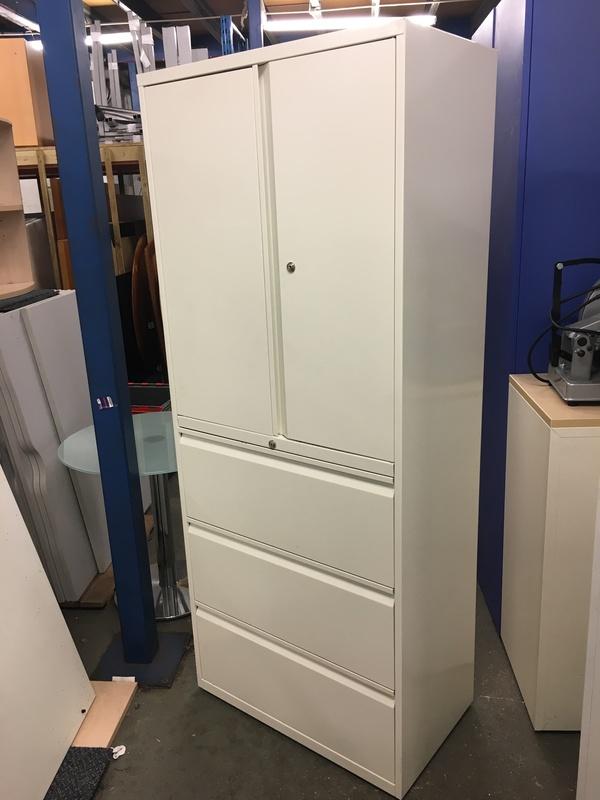 1950mm high white combi units
